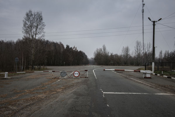 Check point to enter the Exclusion Zone in the Polesskoye area, Chernobyl Exclusion Zone