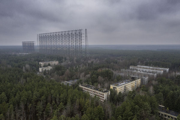 The abandoned military city of Chernobyl-2, inside the Chernobyl exclusion zone, submerged by nature.