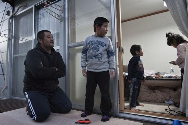 Shelters for evacuated people, Minamisoma city.