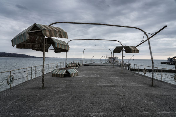 The abandoned Pier along the sea, Sukhumi