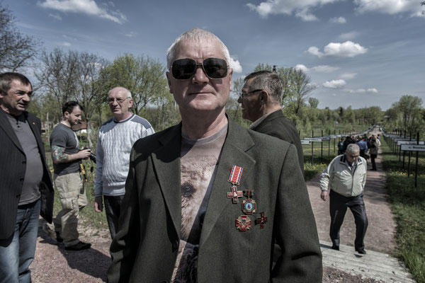 Former liquidator with medals of valor for his work in liquidating the Chernobyl accident.