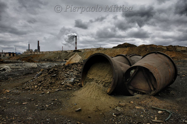 Copper smelting plant and spills of toxic waste
