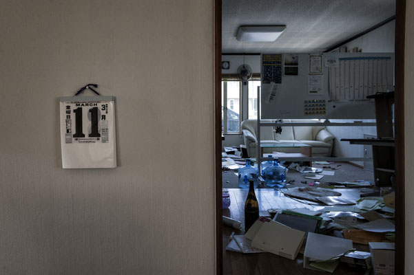 """11th March 2011, the last day, abandoned house devastated by thieves, Futaba, Fukushima """"No-Go Zone"""""""
