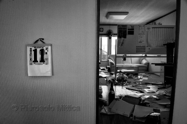 """Abandoned house, Futaba city, Fukushima """"No-Go Zone"""", Japan."""