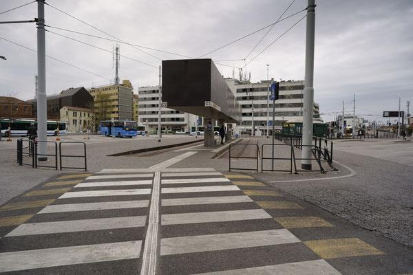 Roma square, bus stop