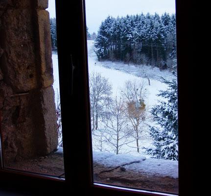 La vue depuis ma fenêtre version neige