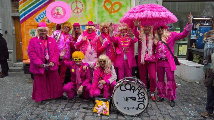 rosa und blond
