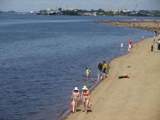 Am 25. Juli war es warm, 26 Grad in Arkhangelsk