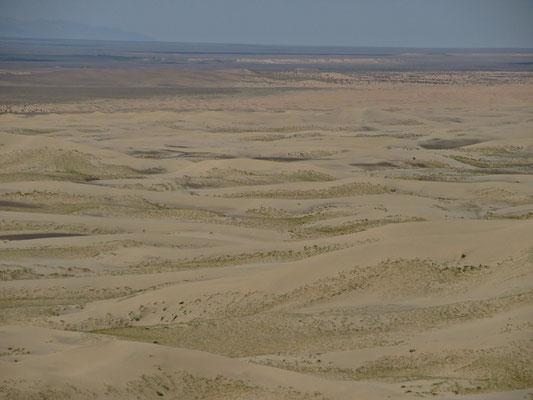 Irgendwie wollen wir morgen die Sanddünen überqueren und auf dieser Seite südwärts fahren