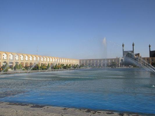 Der Imam Platz von Isfahan ist der zweitgrösste Platz der Welt, nach dem Tienameng in Peking