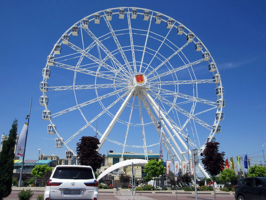 Dieses Riesenrad in Almaty war rollstuhlgängig