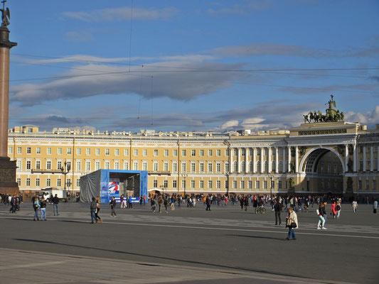 Der Winterpalast in St.Petersburg