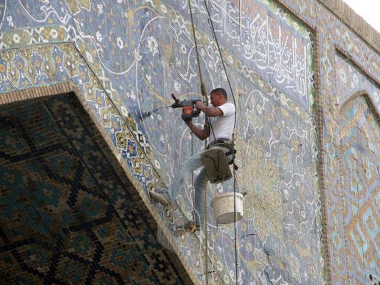 Renovation an der Moschee