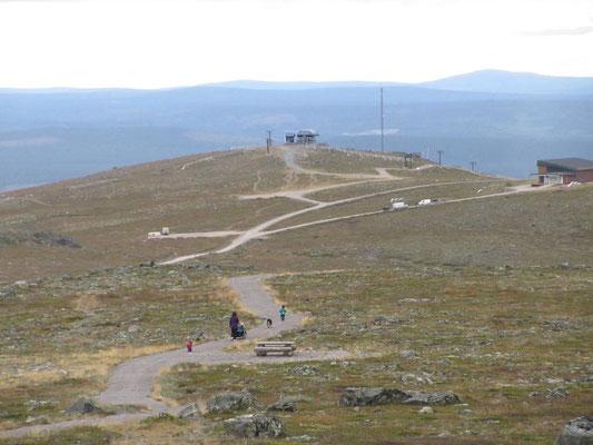 Auf dem Dundet 770 m ü Meer 320 Meter oberhalb der Kleinstadt Gällivare