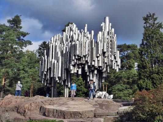 Das Monument im Sibeliuspark in Helsinki