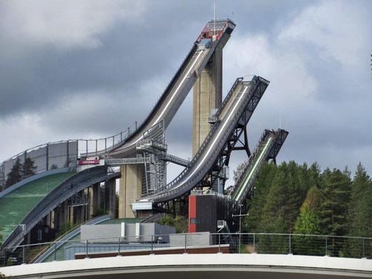 Die drei Sprungschanzen von Lahti sind beeindruckend