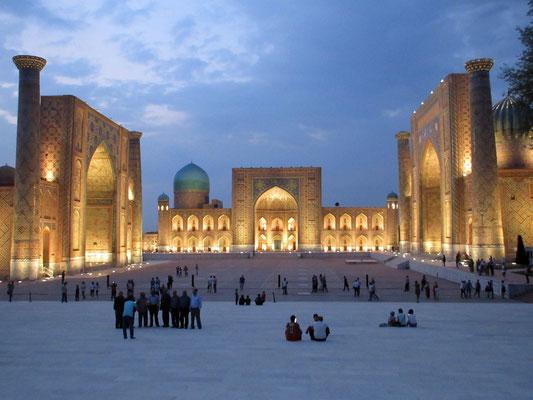 Abendstimmung am Registran in Samarkand
