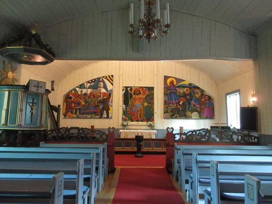 Farbenfrohe Altarbilder der Samen