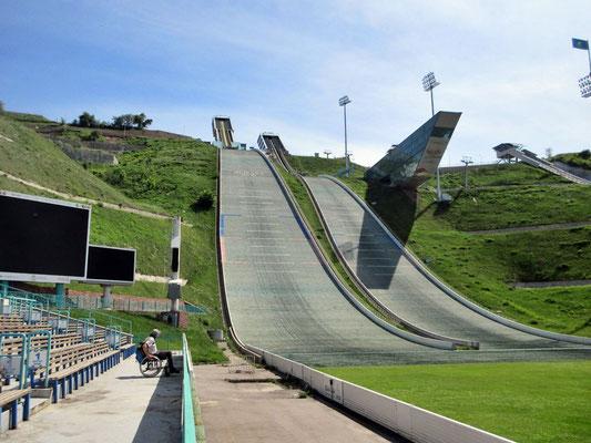 Die eindrücklichen Sprungschanzen von Almaty