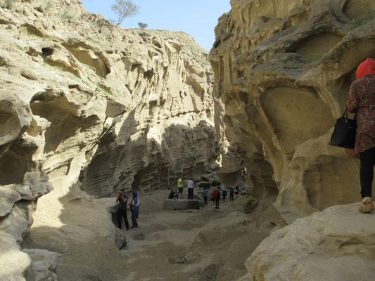 Sandsteinschlucht im Westen von Qeshm