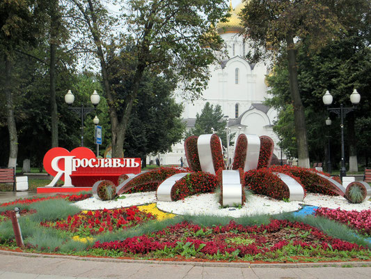 Jaroslawl ist eine sehr herausgeputzte Stadt, die viele Touristen anzieht
