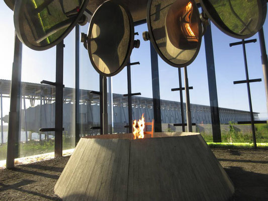 Das eindrückliche Monument zur Erinnerung an die Hexenverbrennungen in Vardö - vom Schweizer Zumthor gestaltet
