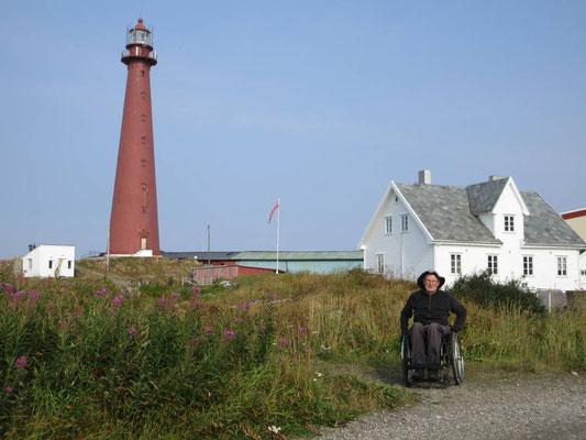 Von diesem Leuchtturm in Andenes hat Peter ein Zertifikat, dass er ihn 1998 bestiegen hat