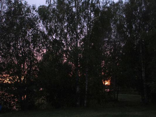 ..mit einen solchen Sonnenuntergang