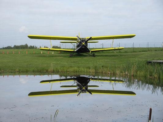 So schön können Flugzeuge ausgestellt sein