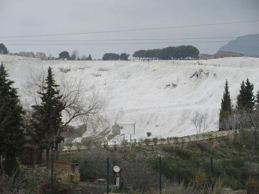 Kein Gletscher, die Kalksinterterassen von Pumakkale