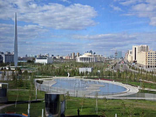 Astana aus der Perspektive der Weltausstellung