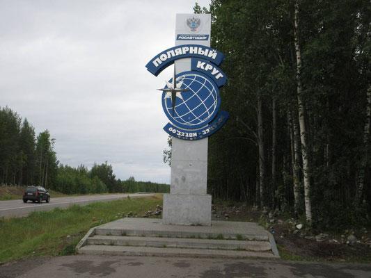 Wir passieren den nördlichen Polarkreis am 2. August