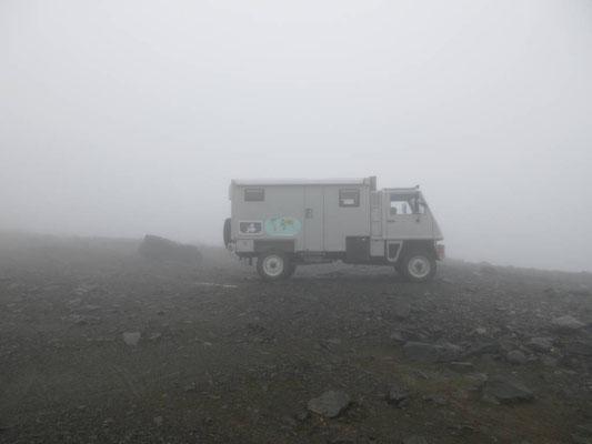 Auf dem Mount Lovozero 1035m hoch hätte man eine Rundumsicht