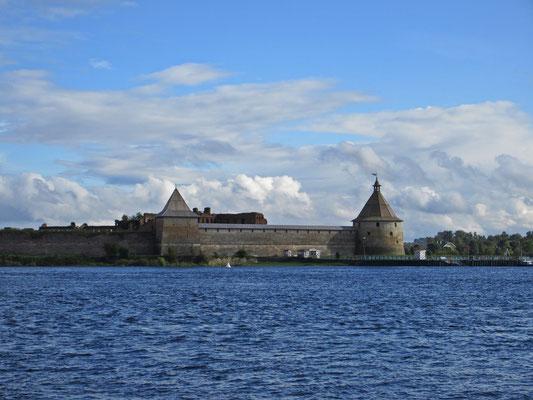 Die Schlüsselburg bei St.Petersburg war sehr umkämpft während des 2. Weltkrieges
