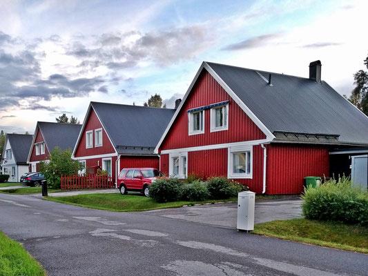 Dorfquartier in Nordschweden