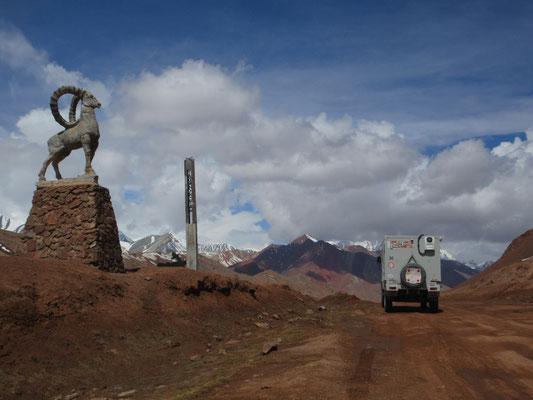 Kyzyl Art-Pass, Grenze Tajikistan / Kirgistan