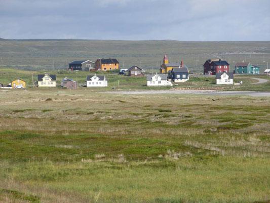 Typisches Dorf auf Varanger