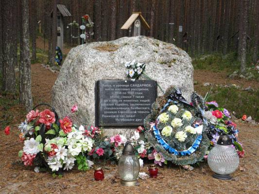 Gedenkstätte der tausenden von Opfern beim Bau des Weissmeer-Ostseekanals