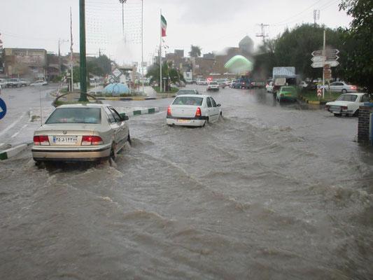 Nach einem heftigen Gewitter, wie wir hörten dem stärksten seit 10 Jahren