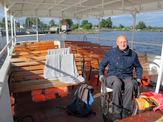 Auf dem Boot zur Festung Schlüsselburg