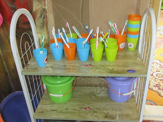 Auf Hygiene wird schon im Kindergarten der Tagesstätte Wert gelegt