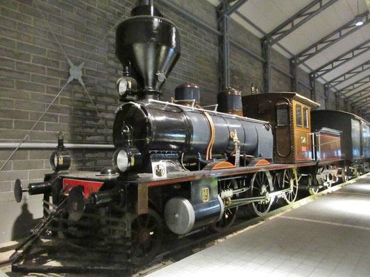 Schön restaurierte Dampflock im Eisenbahnmuseum in Hyvinkää