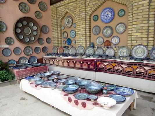 Keramik ist das Handwerk vieler Familien in Rishtan