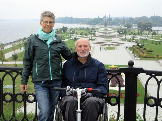 Jaroslawl: Zusammenfluss der Wolga links und des Kotorosl rechts