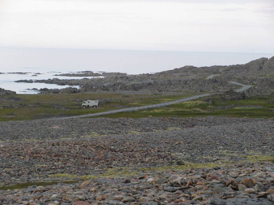 Sehr karge, faszinierende Landschaft zwischen Vardö und Hammnigberg