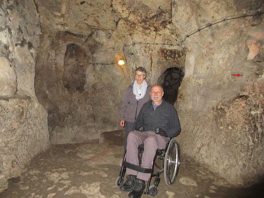 Im 1. Untergeschoss der unterirdischen Stadt von Derinkuyu