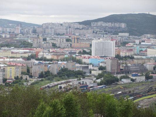 Murmansk mit seinen 300'000 Einwohnern ist beeindruckend