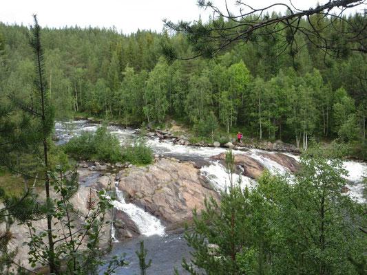 Der Wasserfall ist das Ziel