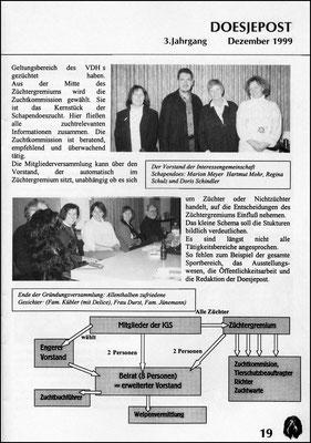Doesjepost 1999 Gründung des Vereins