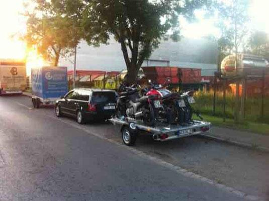 Motorradtransport für 3 Motorräder